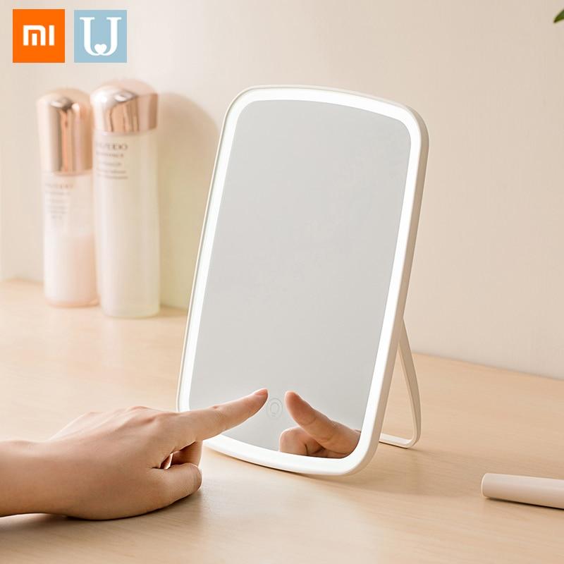 Original Xiaomi Jordan&Judy LED Portable Makeup Mirror Night Lamp Desktop LED Light USB Rechargeable Folding Touch Dimmable Lamp