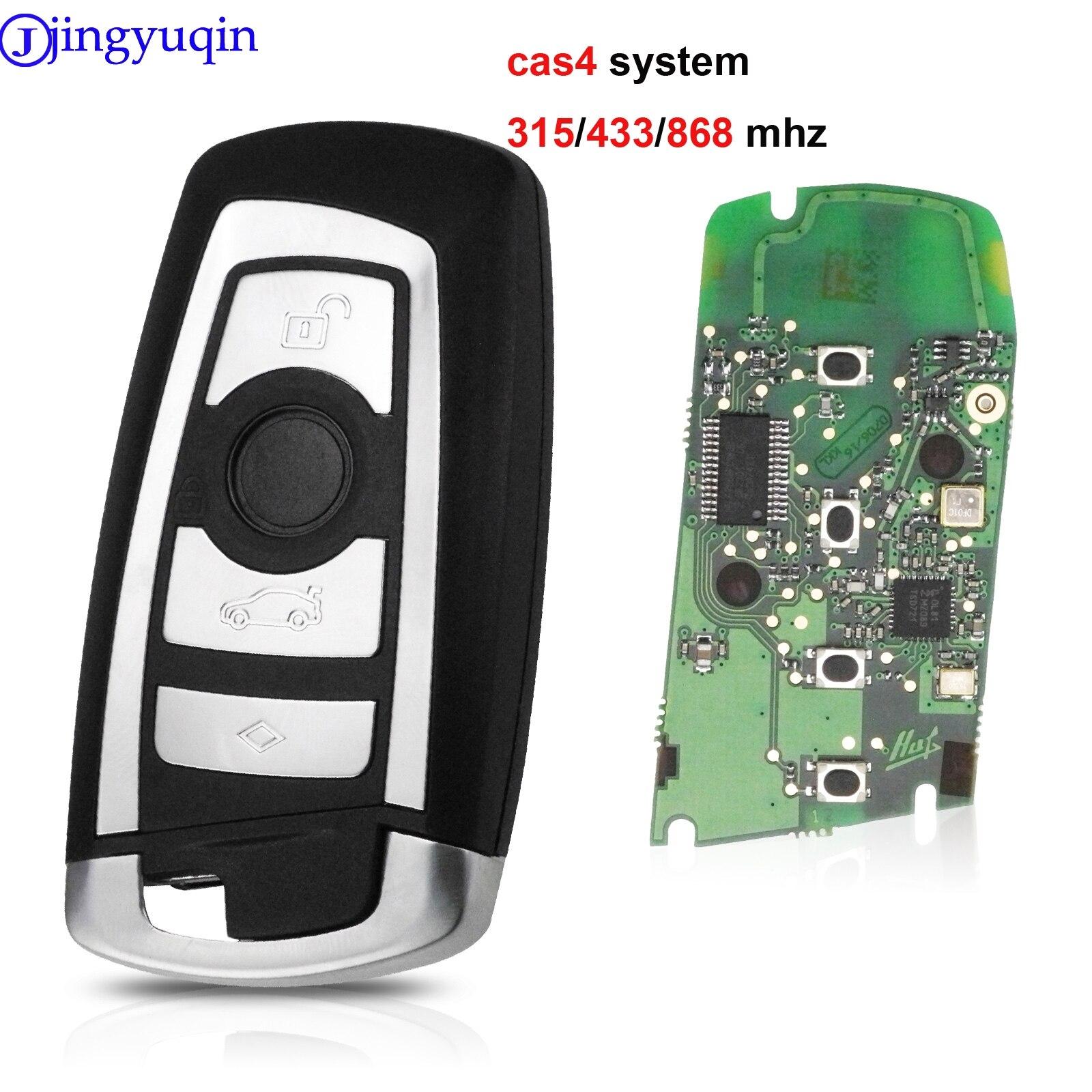 jingyuqin CAS4 868/315/433mhz Car Remote Smart Key For BMW 1 3 5 7 Series CAS4 System Auto Vehichle Alarm Keyless Fob|Car Key| |  - title=