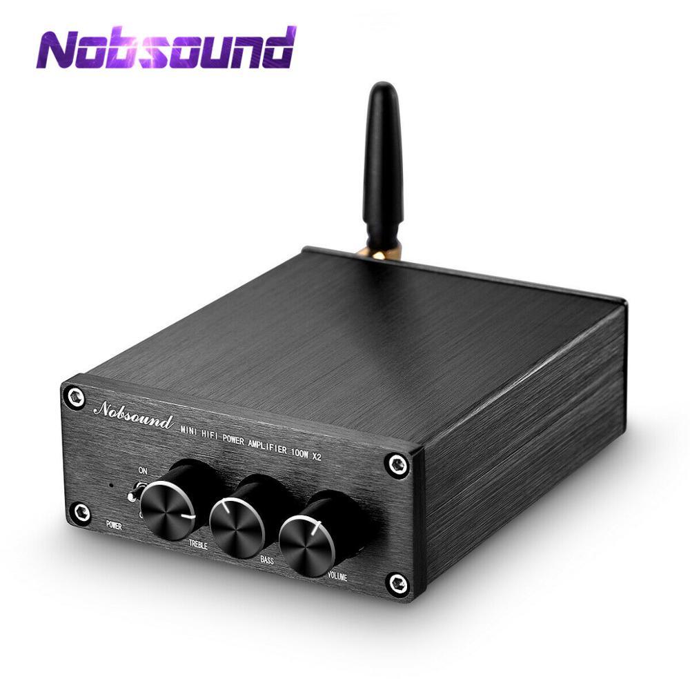 Nobsound mini bluetooth 5.0 tpa3116 amplificador de áudio digital alta fidelidade classe d potência estéreo amp 100 w * 2 para alto-falantes em casa