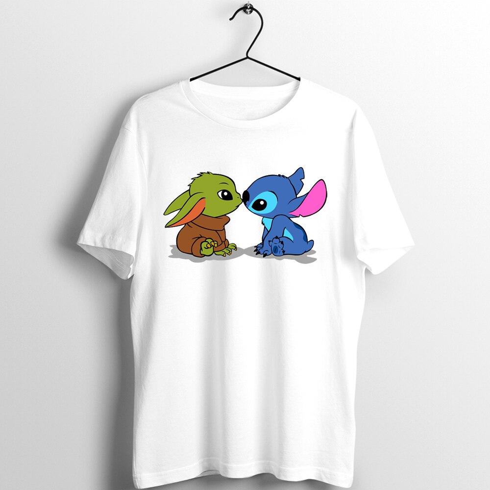 Women's Fashion T-Shirt Lilo Stitch Harajuku Kawaii Tshirts Lovely Cartoon Female Printed Casual T Shirt Cute  Casual Tops