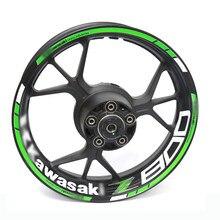 Para kawasaki z800 z 800 motocicleta reflexivo aro da roda tarja decalque adesivo dianteiro traseiro conjunto completo