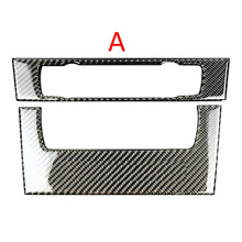 car Carbon Fiber Air Condition CD Panel Cover Trim For BMW 3 Series E90 E92 E93 2005-2012 2pcs car CD Panel decorative cover недорого