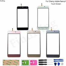 Mobile Touch Screen For Cherry Mobile Flare P1 Digitizer Panel Lens Sensor TouchScreen Replacement Part Tools 3M Glue