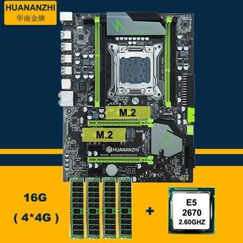 Motherboard Bundle HUANAN ZHI Discount X79 Motherboard With M.2 Slot CPU Intel Xeon E5 2670 C2 2.6GHz RAM (4*4G)16G DDR3 RECC