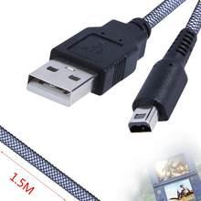 1,5 m Spiel Daten Sync Ladung Charing USB Power Kabel Ladegerät Kabel Für Nintendo 3DS DSi NDSI lithium-batterie gaming Zugriffs
