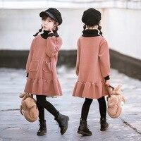 Girls Winter Dress Pink Kids Dresses for Girls Warm Kids Dress Teen Princess Costume Dress 3 4 5 6 7 8 9 10 11 12 13 14 15 Year