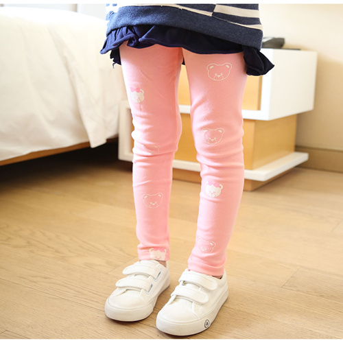 Vidmid Girls Spring And Autumn Bear Cotton Leggings New Korean Version Children's Casual Bottoming Pants Trousers Cothes P206 5