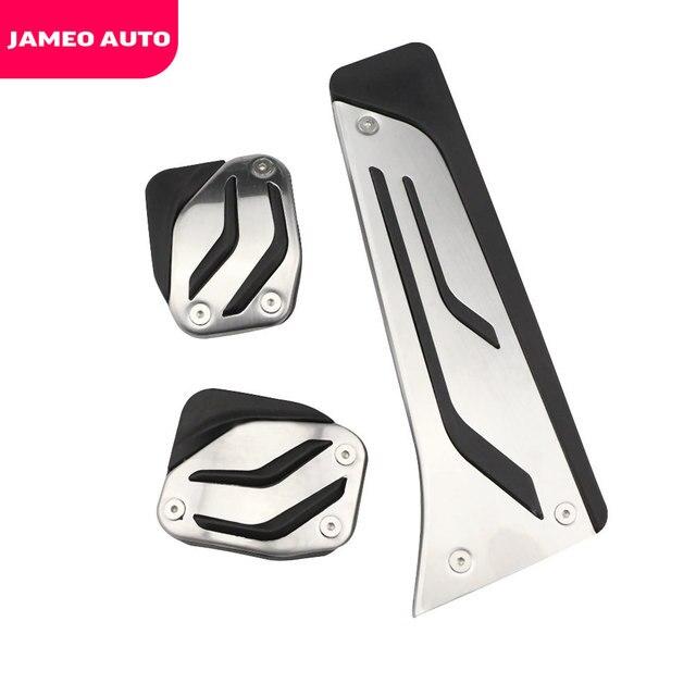 Jameo-pédales de pied en acier inoxydable   Pour BMW X1 X3 X4 X5 X6 1/2/3/5/6/7 M3 E39 E46 E87 E90 E91 E92 Z4 F30 F20, style de voiture