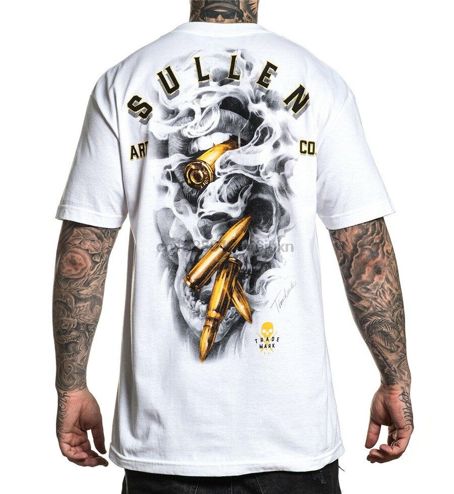 Sullen MenS Gold Digger Short Sleeve T Shirt White Clothing Apparel Tees Skate 21St 30Th 40Th 50Th Birthday Tee Shirt(China)