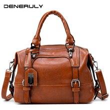 цена на Vintage Leather Bag Women Luxury 2019 Women Messenger Bags High Capacity Tote Bags Ladies High Quality Shoulder Bag Bolso Mujer