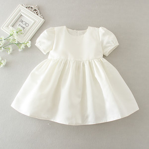 Image 4 - HAPPYPLUS Snow White/Ivory Baby Girl Christening Dress Gown Set Embroidery Baptismal Outfits Formal Baby Dresses Birthday 1 Year