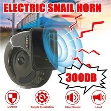 300DB 12V Electric Snail Horn Universal Super Loud Waterproof Car Horns Air Motorcycle Truck Horn Siren Loud Snail Air Horn