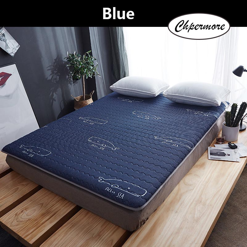 Chpermore New Latex Mattresses Thickening Foldable Slow Rebound Memory Tatami Emulsion Mattress Bedspreads King Queen Size