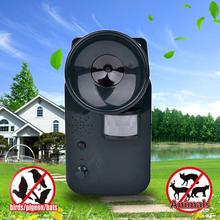 Zewnętrzny ultradźwiękowy odstraszacz szkodników odstraszacz zwierząt ogród myszy szczury wiewiórki ptaki Skunks Cat Dog Fox repelent tanie tanio SMART SENSOR CN (pochodzenie) Nietoperze Ultrasonic Pest Repellers Brak