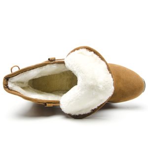 Image 5 - Fujin 여성 부츠 겨울 따뜻한 발목 부츠 레이스 업 부츠 모피 견면 벨벳 신발 여성을위한 편안한 겨울 스노우 부츠
