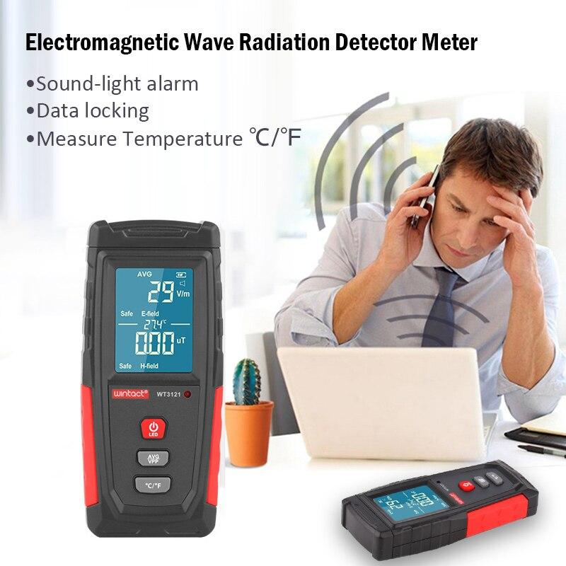 Электромагнитное поле излучения Тестер EMF метр электрическое поле магнитного поля дозиметр детектор перезаряжаемые излучения Dosimete