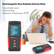 Electromagnetic Field Radiation Tester EMF Meter Electric Field Magnetic Field Dosimeter Detector Rechargeable Emission Dosimete professional field intensity indictor of low frequency emf meter emf828 electromagnetic field tester 0 1 400mg 1 4000mg