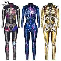 Disfraz de Halloween para VIP FASHION, disfraz de Carnaval con esqueleto de Calavera, Sexy, colorido