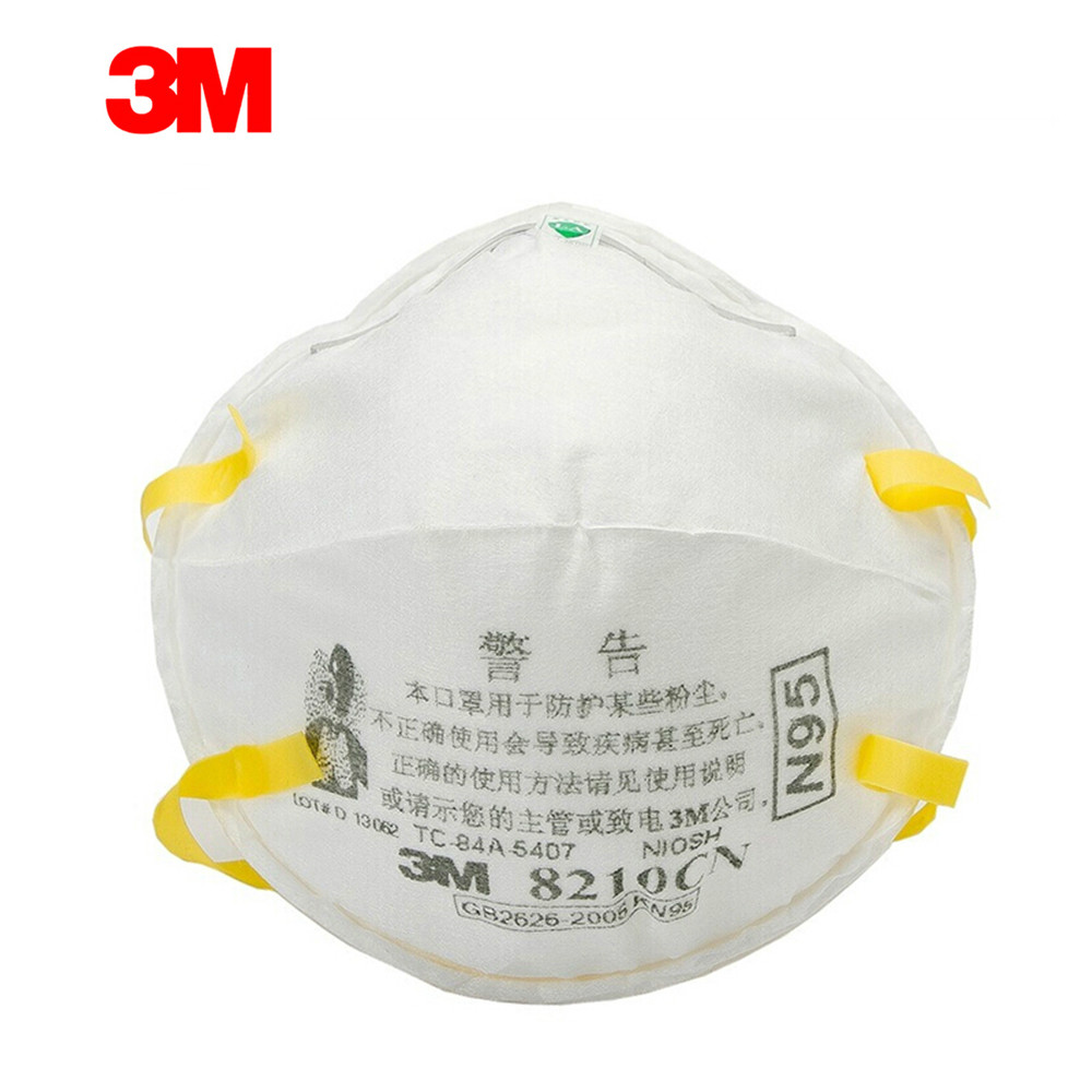 3M 8210 1pcs  Particulate Respirator Protective Masks Safety Mask PM2.5 Smog Haze Dustproof Mouth Mask For Outdoor Sport
