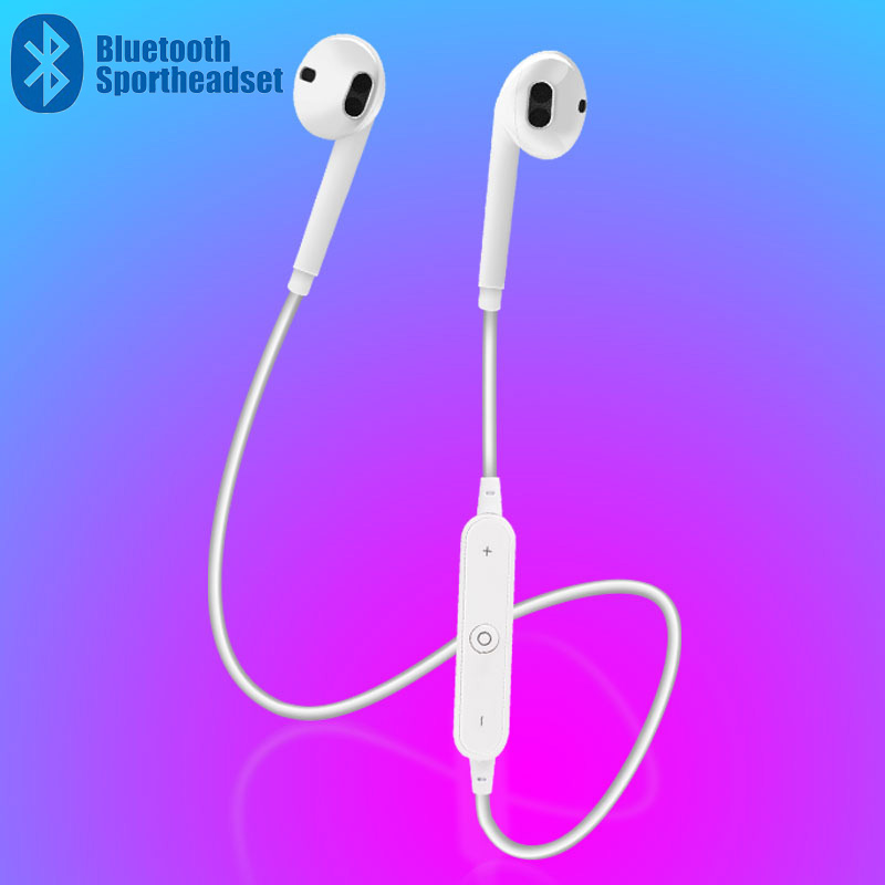 S6 Sport Neckband Wireless Earphone Music Earbuds Headset Handsfree Bluetooth Earphone with Mic For All Smart Devices