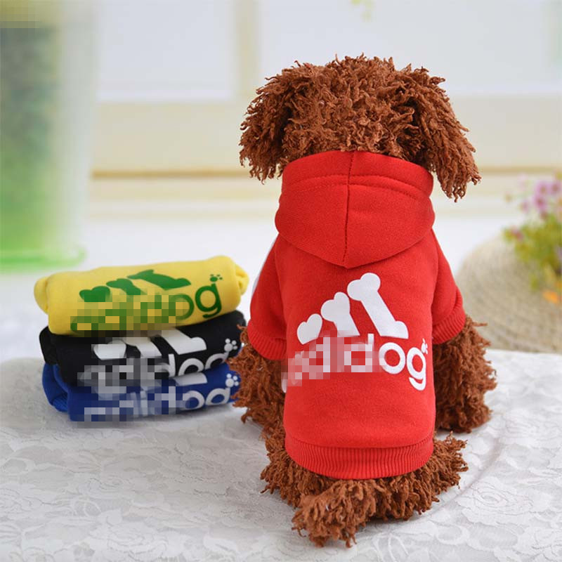 Pet Clothes Dogs Puppy Hoodies Coat Spring Sweatshirt Dog Outfits Fashion Pet Bulldog Pug Clothes Dog Fleece Sweater AELTT043