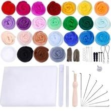 Wool-Felt-Material-Set Needle-Felt Handmade DIY for 25-Colors 2G Wet Perfect-Gift Making