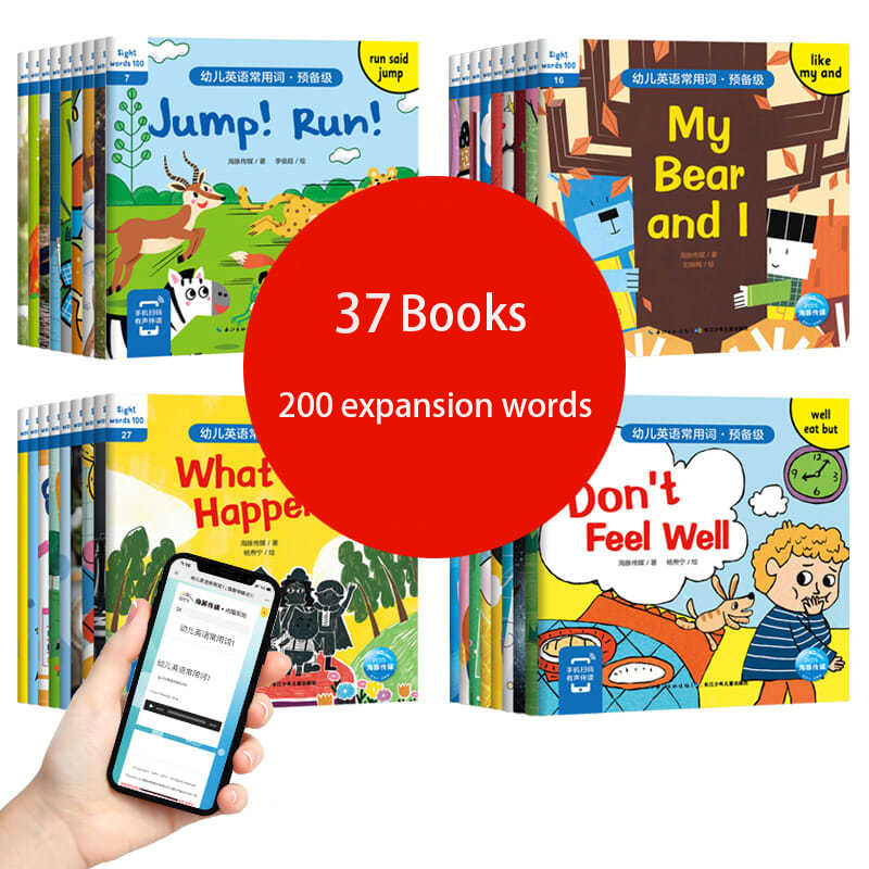 36 Books free exercise books for children's general English vocabulary for children enlightenment English reading Picture Livros