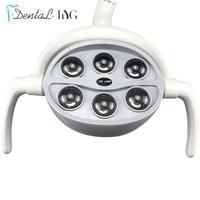 Dental 6 LEDs Oral Light Lamp For Dental Unit Chair Ceiling Type shadowless Oral Light Sensor Lights