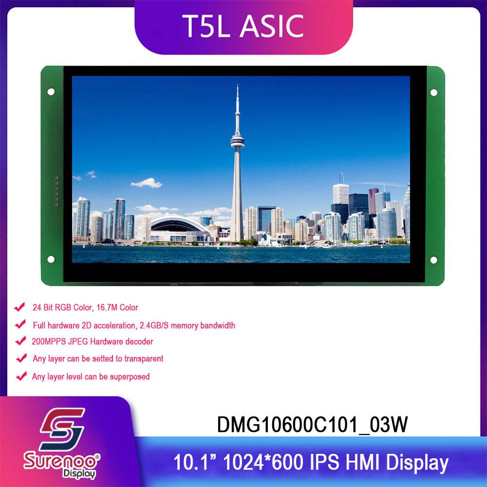 Dwin T5L HMI Intelligent Display, DMG10600C101_03W 10.1