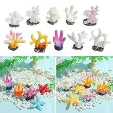 Bela resina recife rocha artificial coral simulação starfish aquário tanque ornamentos desktop adorno paisagem fazendo