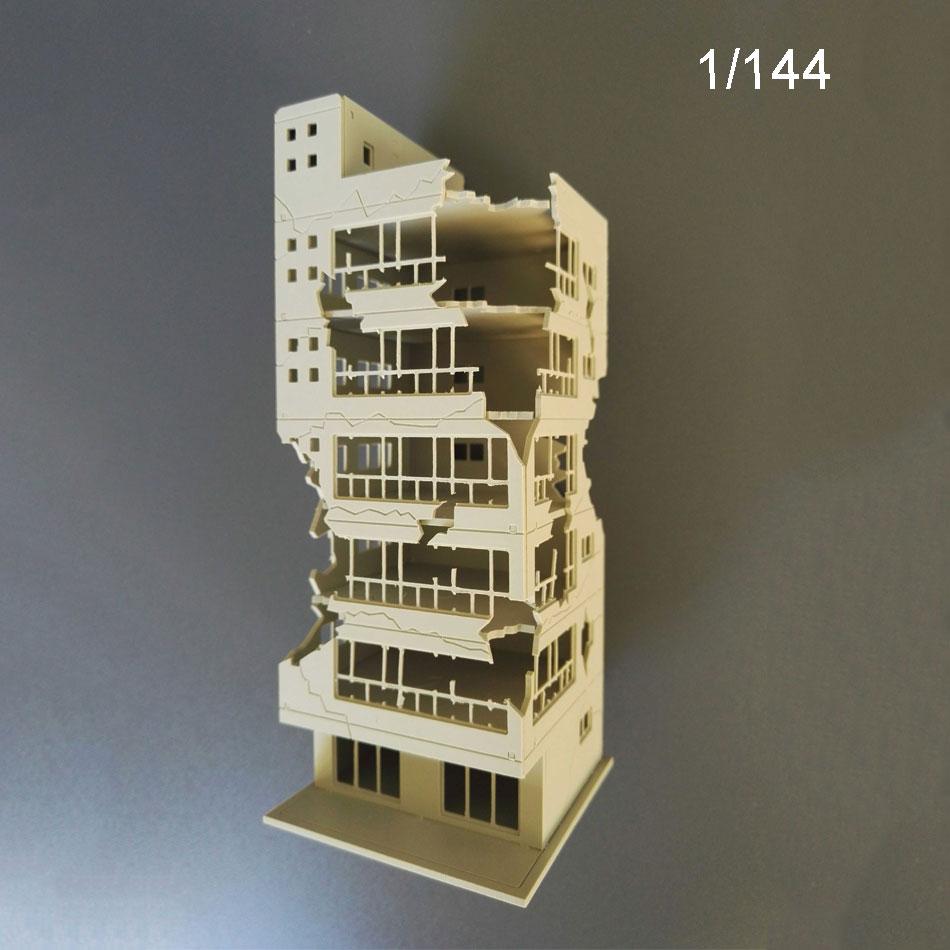 1:144 1:100 Model  War Damage Building Unfinished Building Building Scene Model Fish Tank Landscaping For Diorama