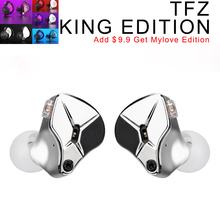 TFZ KING EDITION In Ear Monitors Professional Headphone DJ Noise Canceling Super Bass Metal Music Headset Hifi Wired Earbuds authentic astrotec gx40 professional sound noise isolating hifi music studio dj monitor in ear earphone headphone fone de ouvido