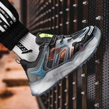 Men's transparent sole platform shoes men's shoes lightweight breathable sports shoes non-slip casual shoes outdoor running shoe