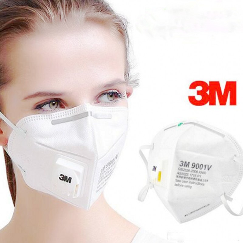 In Stock 3M 9001V Face Mask FFP3 KN95 Mask Filter Disposable Particulate Respirator Protective Masks Safety Mask PM2.5