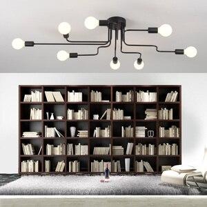 Image 2 - أضواء الثريا LED تركيبات بريق خمر Led مصباح المطبخ الصناعي غرفة المعيشة الأسود Avize الحديثة Plafonnier ليلة مصباح