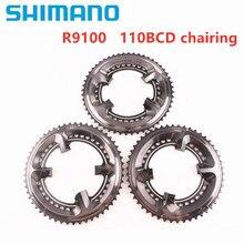 Shimano platos y bielas DURA ACE R9100 para bicicleta de carretera, accesorio para bici, 11 velocidades, 110bcd, 50 34t, 52 36t, 53 39t