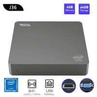 J36 V J3160 Mini PC Windows 10 Intel Celeron J3160 4GB+64GB Expandable 1TB 2.5 inch HDD 2.4GHz/5.8GHz WiFi BT4.0 USB3.0 HDMI+VGA