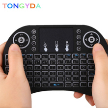 AAA battery Backlit I8 Mini English Russian Wireless Keyboard Mouse 2.4gh Air Mouse Keyboard for Laptop TV With Touchpad 3 Color backlight h9 i8 i8 2 4g wireless english russian hebrew keyboard backlit with touchpad for mini pc smart tv tv box laptop pc