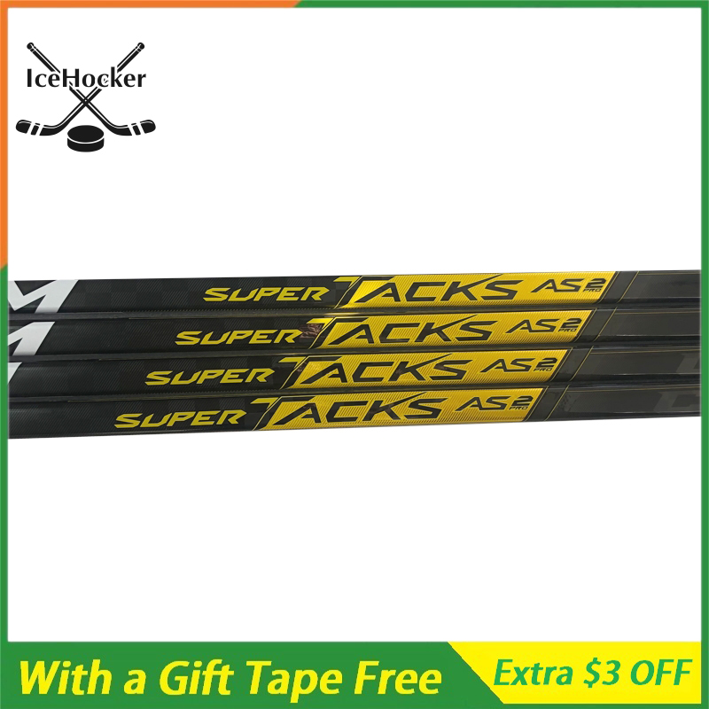 Newest Model Ice Hockey Sticks Tacks AS2 PRO With Grip P29 Whole Carbon Fiber Ice Hockey Stick With A Free Tape Free Shipping