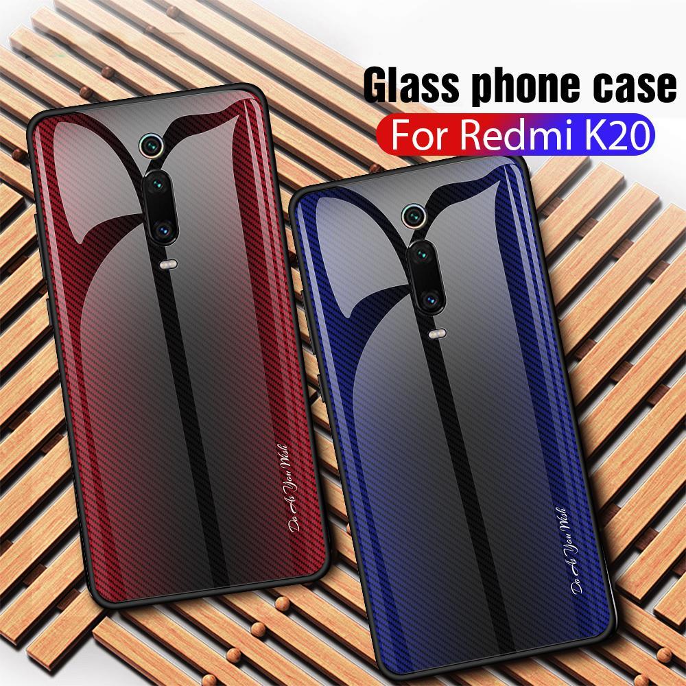 Gradient Tempered Glass Phone Case Redmi K20 K 20 Pro For Xiaomi Mi 9T Pro Case Protective Shell For Xiomi Mi 9 Mi9 T Case Funda(China)