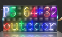free shipping DIY RGB color LED display 18 pcs P10 indoor Full Color Led Module (320*160mm)+ RGB led controller+2pc power supply