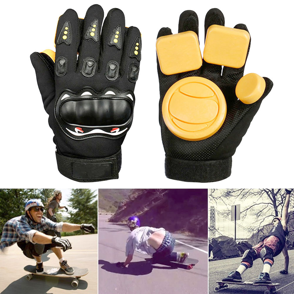Longboard Skateboard Gloves Skateboard Gloves Slider Armguard Protector Skateboard Brake Gloves Palm Sliding Protective