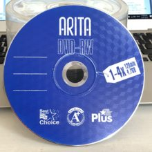 Wholesale 5 discs A+ 1-4x 4.7 GB Blank Blue DVD RW Disc(China)