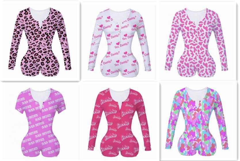 2020 New Fashion Women's Floral Bodycon Long Sleeve V-Neck Jumpsuit Clubwear Bodysuit Romper Short Pants