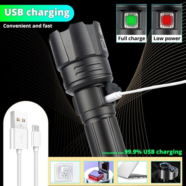 Фото xhp903 xhp702 светодиодный фонарик самый мощный 18650 26650 цена