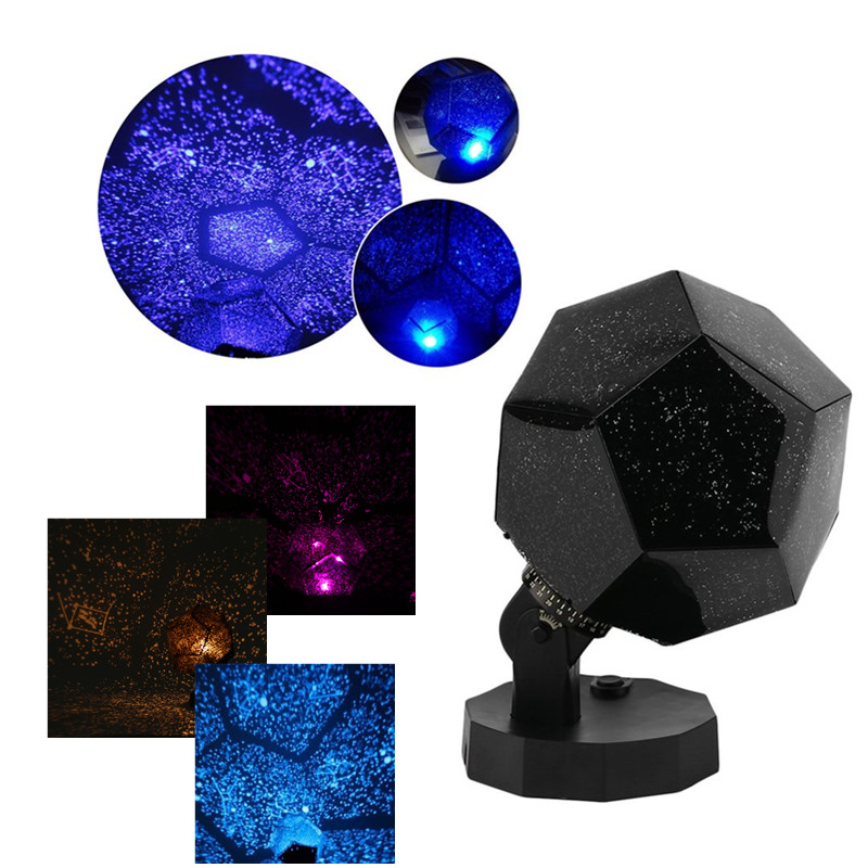 LED Night Light Romantic Celestial Astro Sky Cosmos Star Projector Assembled/Pre-assembled Starry Luminaria Night Light LED Lamp