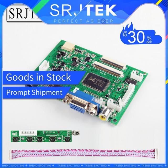 Srjtek VS-TY2662-V2 HDMI VGA 2AV 40 /50 pines controlador de PC para Raspberry PI 3 EJ101IA-01G de 8 bits IPS LCD controlador de pantalla
