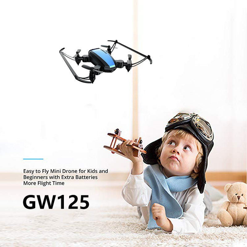 Global Drone GW125 Mini Drone Quadrocopter 2.4G 4CH RC Helicopter Micro Pocket Folding Dron For Kids Dropship Toys For Boys