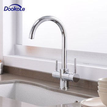 Drinking Filtered Water Kitchen Faucet, Brass Purifier Faucet Dual Control Tap Vessel Sink Mixer Tap Torneira