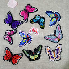 Clothing Embroidery Badge Patching-Holes-Patch Can-Be-Customized Velcro DIY Butterfly